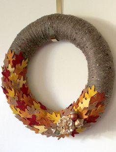 Handmade wreath. So festive!