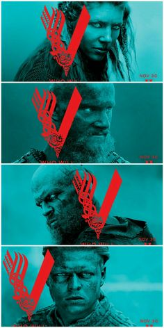Vikings season 4 new posters: Lagertha, Bjorn, Floki and Ivar