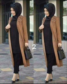 Modern Hijab Fashion, Islamic Fashion, Abaya Fashion, Muslim Fashion, Fashion Outfits, Hijab Casual, Hijab Chic, Hijab Style Dress, Hijab Outfit