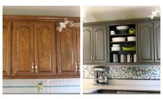 Grey and Green Kitchen Makeover