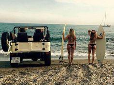 Parking on the beach.
