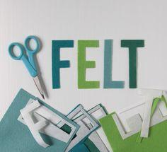 How to cut felt- Freezer paper is the secret!