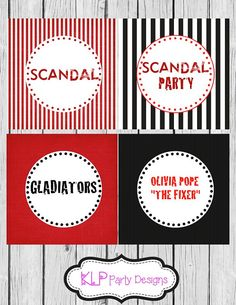 Scandal Theme Cupcake Toppers on Etsy, $5.00