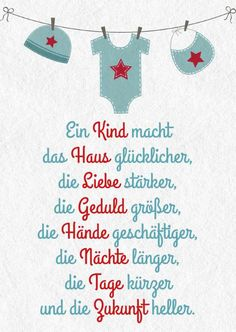 Diesen und viele weitere niedliche Grüße & cards This and many other cute greetings to the birth can be found on ROOMBEEZ ★ The post # sayings # greeting cards These and many more cute greetings & appeared first on DIY. Baby Quotes, Love Quotes, Baby Sayings, Quotes Kids, Baby Shower Mixto, Baby Blog, Free Baby Stuff, Baby Cards, Kids And Parenting