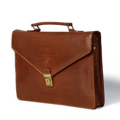 The Lorenzo - Small Leather Briefcase for Men and Women
