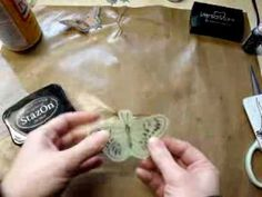 ▶ ‪Dryer Sheet Butterflies Tutorial‬‏ - YouTube