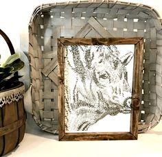 Cow Framed Art - Farmhouse Cow - Farmhouse Framed Art - Cow Print - Farmhouse Decor - Rustic Farmhouse - Farmhouse Style Gift - Fixer Upper