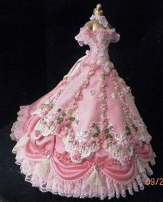 Dollhouse Miniature Custom Made Ball Gown Hand Embroidered Barbie Dress, Lolita Dress, Barbie Clothes, Pretty Outfits, Pretty Dresses, Beautiful Dresses, Fairytale Dress, Fairy Dress, Ball Dresses