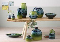 Image result for glazes that look like landscapes on ceramics
