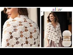 İstiridye Motifli İncili Gelin Şalı - Oyster Stitch Pearl Bridal Shawl - YouTube Crochet Triangle Scarf, Crochet Blouse, Crochet Scarves, Crochet Shawl, Crochet Clothes, Knitting Videos, Crochet Videos, Macrame Bracelet Patterns, Crochet Wedding Dresses