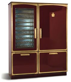 fully customizable vintage styled refrigerator by italian fridge makers meneghini looks like a. Black Bedroom Furniture Sets. Home Design Ideas