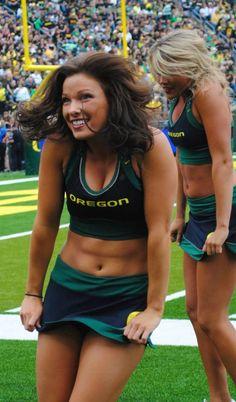 5fa0783921ba Oregon Ducks Cheerleader Cheerleading Jumps, College Cheerleading,  Cheerleading Uniforms, Oregon Cheerleaders, Hot