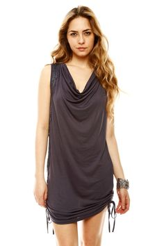 Monoreno Blue Soft Knit Sleeveless Dress