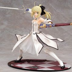 48.88$  Watch now - http://ai4i8.worlditems.win/all/product.php?id=32638149464 - Japanese Anime Figures Fate stay night Saber Lily Doll the Sword of Victory Aciton Figure Model Toy 21cm In Box PVC