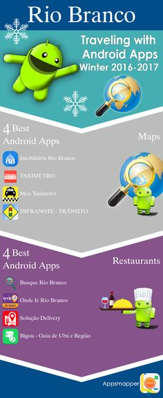 Rio Branco Android apps: Travel Guides, Maps, Transportation, Biking, Museums, Parking, Sport and apps for Students.