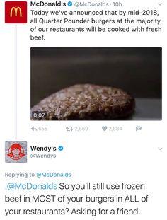 Savage Wendy's Twitter Roasts McDonald's New Claim!