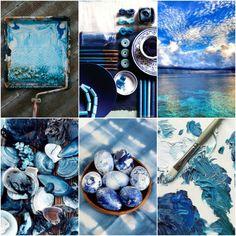 Mood Board Monday ~ PAINTERLY BLUES. Tanis Fiber Arts (05-09-2016)