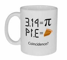 Pi 3 14 - Intergalactic Pi Day Celebration Coffee or Tea Mug Funny Coffee Mugs, Coffee Humor, Funny Mugs, Coffee Barista, Coffee Tumbler, Coffee Signs, Starbucks Coffee, Coffee Quotes, Coffee Shop