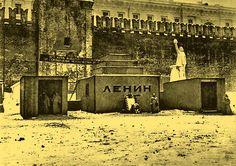 Первый Мавзолей Ленина. Фотография 1924 года
