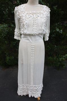 Antique Vintage Victorian Edwardian White Cotton by cybersenora