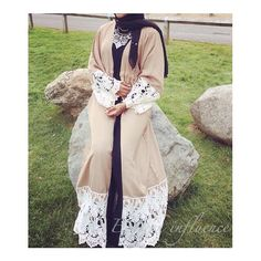 E I D SNAP 8  Say Mashallah! Thank you to @fabulousxox_  What a gorgeous look.  Lace open abaya, a sell out design, In'sha'allah will be back for Eid ul Adha  Remember ladies, it's most likes win! Please show some love and get liking!! #eastern_influence #eid #snap #promotion #2016 #kaftan #instahijab #hijab #hijabs #scarf #scarves #jersey #abaya #jubba #maxihijab #dubai #emirati #kimono #lace