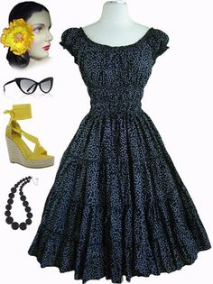 Just restocked at Le Bomb Shop! Find them here: http://www.ebay.com/itm/50s-Style-Bombshell-Pinup-BLACK-EYELET-Dots-Peasant-Top-FULL-SKIRT-Sun-Dress-/140970152761?pt=US_CSA_WC_Dresses==item6679399d11 This is the last restock of this color in this style.. so buy now or forever hold your tears!