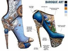 Baroque Shoe Art designed by Nick Adelman| Be Inspirational ❥|Mz. Manerz: Being well dressed is a beautiful form of confidence, happiness & politeness