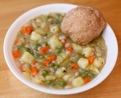 go vegan meow!: Leek and Bean Cassoulet with Biscuits