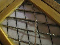 Glorious Twelfth: How To Make A Dollhouse Miniature Lead Paned Window