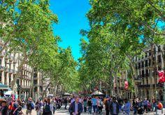 Compass + Twine | A view down Las Ramblas, Barcelona