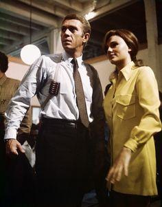 During filming, these two did NOT get along:Steve McQueen, Jacqueline Bisset | Bullitt | 1968 | as Frank Bullitt