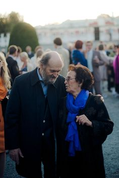 Arvo Pärt and Nora Pärt in 2012  ●  Arvo Pärt (1935), Estonian composer of classical and sacred music, with his wife Nora Pärt (1935).