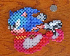 Sonic the Hedgehog Perler Beads Art - Sega and 50 similar items ...