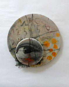 Ines Seidel, Calendar -  concrete, wire, paint, found plastic fabric, photography