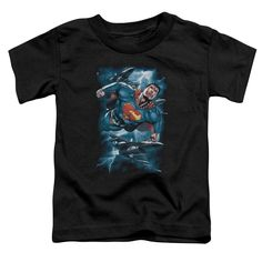 Superman/Stormy Flight Short Sleeve Toddler Tee , Toddler Boy's