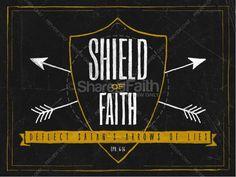 The Shield of Faith Sermon PowerPoint For Church   slide 1