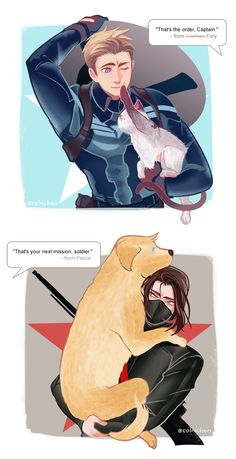Captain America and Winter Soldier by ColnChen