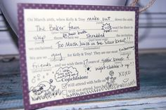 Hilarious mad lib RSVP cards!