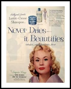 vintage beauty ads with celebrities | ... vintage beauty salon, powder room or bathroom. Very nice condition