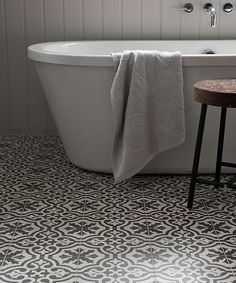 bathroom tile- topps tiles= per tile Bathroom Floor Tiles, Bathroom Signs, Tile Floor, Bathroom Ideas, Bathroom Inspo, Bath Ideas, Family Bathroom, Small Bathroom, Attic Bathroom