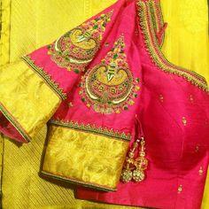 To order, pls whatsapp on 94929 91857 Choli Designs, Blouse Neck Designs, Sleeve Designs, Blouse Styles, Blouse Desings, Saree Blouse Patterns, Blouse Models, Work Blouse, Indian Blouse