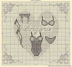 point de croix lingerie - cross-stitch
