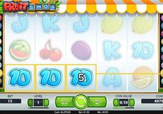 Игровой автомат Fruit Shop на реальные деньги с выводом   Темой игрового онлайн аппарата Fruit Shop стали фрукты и ягоды. Он имеет 5 барабанов и 15 линий. В этом автомате вы будете часто выигрывать фриспины, что обеспечит вам регулярный вывод реальных денег.