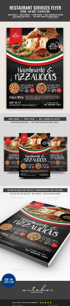Pizza and Pasta Restaurant Flyer - Restaurant Flyers