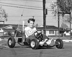 Speed Racer Vintage Go Karts, Vintage Cars, Leave It To Beaver, Nostalgia, Speed Racer, Karting, Pedal Cars, Mini Bike, Ol Days