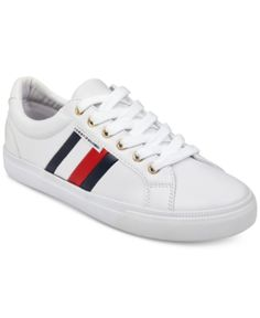 bcd49c63be112a Tommy Hilfiger Women s Lightz Lace-Up Fashion Sneakers - White 8M