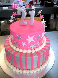 21st Birthday Cake But Im A Just Put 7 Instead