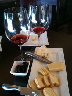 You can't beat some good wine and cheese!