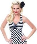 striped sailor bathing  suite