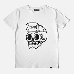 """イェーッ! is Japanese for """"Yeaaah!""""• White t-shirt • Men/Unisex fit (girls should take one size down) • 100% organic cotton • Hand printed in France with soft inks >> Size Charts <<"""